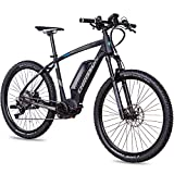 CHRISSON 27,5 Zoll E-Bike Mountainbike - E-Mounter 3.0 schwarz 48 cm - Elektrofahrrad, Pedelec für...
