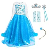 guest dream Girls Princess Dresses Costume Clothe up Party Halloween Christmas for Toddler with Accessories