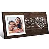 Custom Personalized Picture Photo Frames Gifts,Customized Picture Frame for Couples Romantic Valentines Day Birthday Gifts,Wall Table Decor