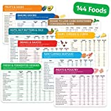 Keto Cheat Sheet Magnets - 9 Pc - Keto Diet for Beginners & Dummies Kit with 144 Foods - Magnetic Keto Food List Planning Tool Chart Weight Loss, Low Carb Ketogenic Meal Plan, Baking, Recipes Guide