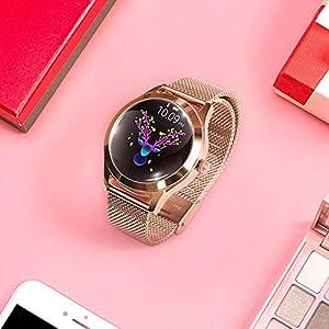 KW10 Pulsera inteligente Correa de acero Reloj pulsera Pulsera multi reloj SmartWatch deportivo en modo deportivo