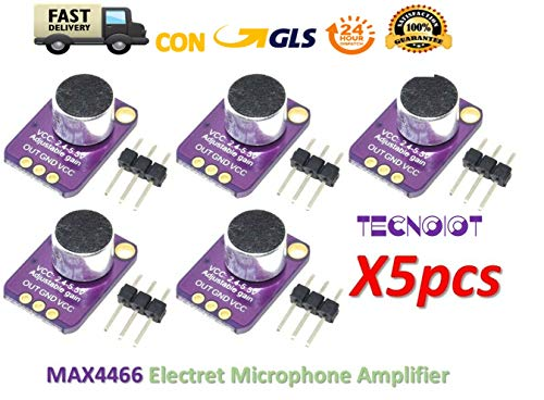 5pcs GY-MAX4466 Electret Microphone Amplifier MAX4466 Adjustable Gain Module