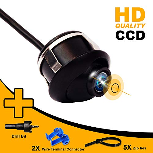 CARSGADGET 360 Degree Rotatable Car Backup Camera-CCD-Universal-Fits All Vehicles Trucks- Side Front Rear View Configurable - with Parking Guidelines ON/Off -HD 1080p-Waterproof Auto Back Up Camera