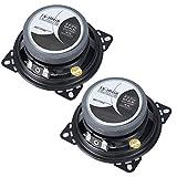 SANON 2Pcs 4 Pulgadas 200W Altavoces Coaxiales de Audio para Automóvil de Frecuencia de Rango Completo Bocina Estéreo de Música