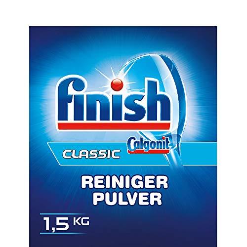 Finish Classic Reiniger-Pulver, phosphatfrei – Geschirrreiniger Pulver für ein glänzendes Spülergebnis – Großpackung mit Geschirrspülpulver, 5er Pack (5 x 1,5 kg)