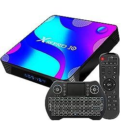 【Android 11.0】 Cette box Android TV est chargée avec le système OS Android 11.0. Le système d'exploitation mis à jour garantit des performances plus rapides, une meilleure compatibilité logicielle et une plus grande disponibilité des derniers jeux et...