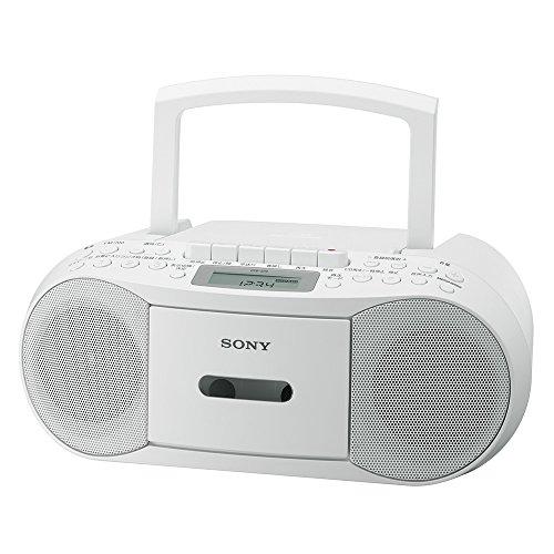 ソニーCDラジカセレコーダーCFD-S70:FM/AM/ワイドFM対応録音可能ホワイトCFD-S70W