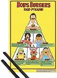 1art1 Bob's Burgers Poster (91x61 cm) Food Pyramid