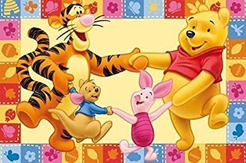 Kinderteppich / Spielteppich / Disneyteppich Disney Winnie Puuh Freunde Tanzen - Kinder Teppich Kinderteppich Kinder Teppich Spielteppich darf in keinem Kinderzimmer fehlen 100 x 170 cm