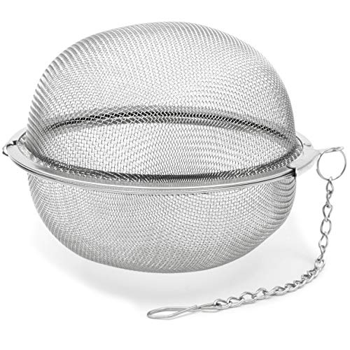 Stainless Steal Mesh Tea Ball Strainer (3 in)