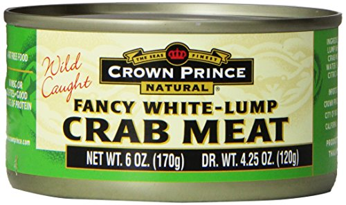 Crown Prince, Fancy White Lump Crab Meat, 6 oz