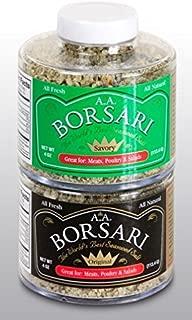 Borsari All Natural Seasoned Salt, Original and Savory Seasoning Combo, Gluten Free, No MSG