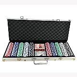 Estuche para Fichas Poker Chips Casino Poker Set, fichas de Casino Estilo Clay Dice Style de Monaco Casino, fichas de póquer Baratas para Juegos de apuestas de Casino Texas Holdem Fichas de póquer