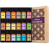 Natrogix Nirvana Essential Oils - Top 18 Essential Oil Set 100% Pure Therapeutic Grade 18/10ml Incl. (Tea Tree, Lavender, Lemon, Rosemary And 14 More) Made in USA w/Free E-Book