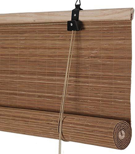 MJK Home Bambus-Vorhang, aufrollen Jalousien Rollos Fenstervorhänge für Tür- / Balkon/Teestube, Lichtfilter,50 x 120 cm