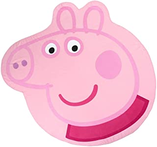 Cerdá Toalla Playa Infantil con Forma de Peppa Pig, Rosa, Diámetro 130 cm