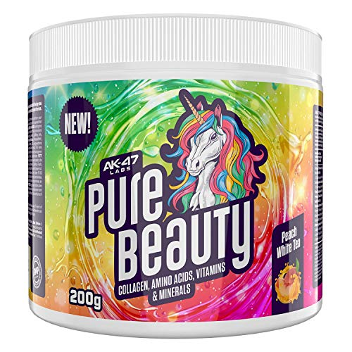 AK-47 Labs - Pure Beauty - The perfect support for healthy skin, thick hair and strong nails - 200 g (peach white tea - white peach tea)