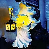 光の像を探している幽霊、ランタンと地獄のメッセンジャー、魔女グールランプ樹脂装飾飾り、ハロウィーン魔女装飾 (Item_package_quantity : 2pcs)
