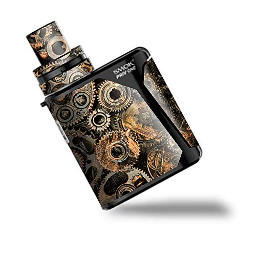IT'S A SKIN Decal Vinyl Wrap for Smok Priv One AIO kit Vape Stickers Cover/Old Gears Steampunk Patina