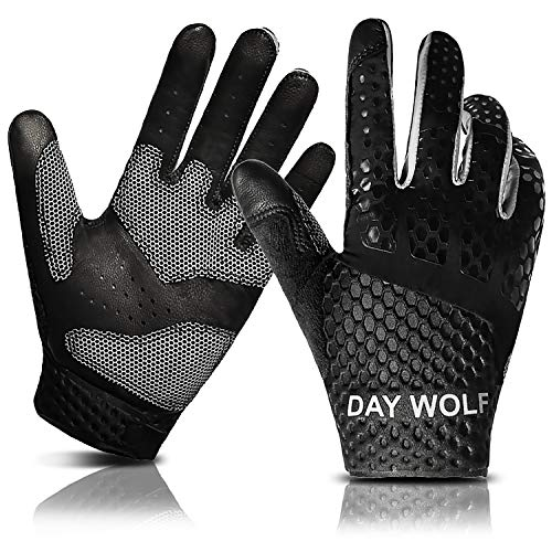 New Full Finger Workout Gloves,Gym Fitness, Weight Lifting Wrist Wraps Genuine Leather Palm Protection & Strong Grip,Quality Breathable Comfort Gloves,Cycling, Pull Ups,Cross Training for Men & Women