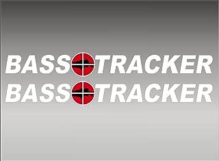 BASS Tracker Boats retro Logo Decal PAIR 5x42