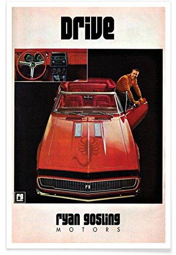 """JUNIQE® Autos Filme Poster 20x30cm - Design """"Drive"""" entworfen von Ads Libitum"""