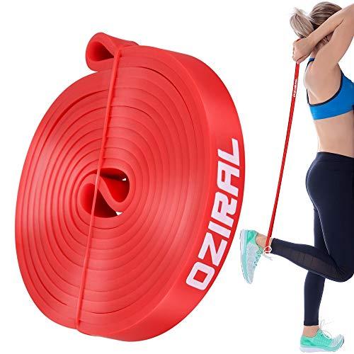 Oziral Bandas Elásticas de Fitness Bandas de Resistencia Cuerda Duradera de Látex Natural para Terapia Yoga Pilates Rehabilitación Deporte Fitness Entrenamiento Rojo