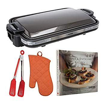 Zojirushi EA-DCC10 Gourmet Sizzler Electric Griddle Bundle with Free Cookbook Oven Mitt and Flipper Tongs  4 items