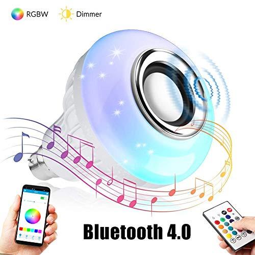 Yeshai3369 E27 Bombilla LED Bombilla De Altavoz Bluetooth RGB Bombilla Inteligente LED Control Remoto Inalámbrico Bluetooth Bombilla De Reproducción De Música