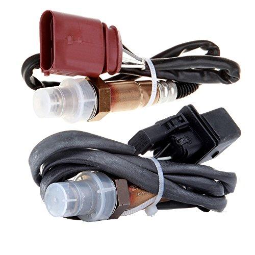 ECCPP Oxygen Sensor 17014 SG1170 1 Upstream Air Fuel Ratio Sensor and 1 Downstream for 2001-2005 Audi A4 A4 Quattro, Volkswagen 2002-2006 Golf 2002-2005 Jetta 2002-2004 Beetle