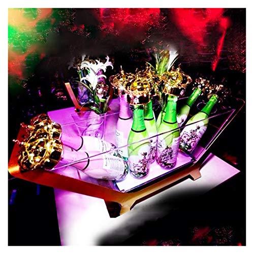 Cubiteras Para Hielo Cubo de hielo LED gigante / 6-12 Bucket de hielo de Champagne embotellado Barco / cargando Color Cambio de vino Refrigerador / Barra / Boda / Tenedor de cerveza de fiesta Enfriado