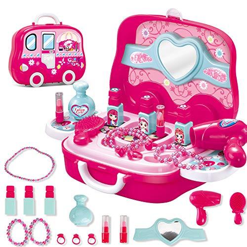 Kinder pädagogische Spiel Fall Fall Spielzeug Set tragbare Werkzeug Koffer / Make-up Koffer / medizinische Ausrüstung Koffer / Besteck Koffer Spielzeug Set für Jungen, Mädchen (Makeup Suitcase)