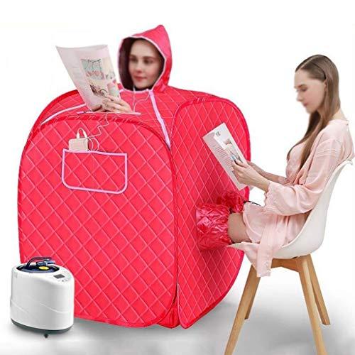 JMSL Máquina de vapor portátil para sauna de vapor, sauna, spa, cabina, plegable, para el hogar, spa personal y terapia de adelgazamiento corporal interior con maceta de sauna