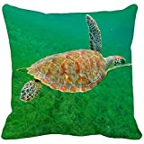 Dekokissen Bezug,Sea Marine Turtle Ocean Tiermuster V Baumwolle Dekokissen Abdeckung Home Decor...
