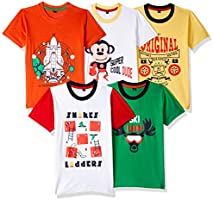 T2F Boy's T-Shirt (Pack of 5)