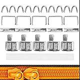 Set de Reparación de Cremallera para Tamaño #3, Piezas Finales para la Parte Superior e Inferior, Paquete de 5, Accesorios de Reemplazo para Cremalleras NYLON, para Chaqueta, Mochila, Sudadera
