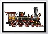Lokomotive Zug Kunstdruck Poster -ungerahmt- Bild DIN A4 A3