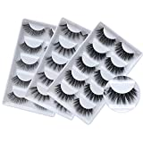 3D Mink Lashes Wholesale 3 Styles Dramatic Long Faux Mink Eyelashes Natural Soft Handmade Crossed Cluster False Eyelashes Pack (15 Pairs/3 Pack)