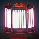 Nouvelle Lampe RUBINO 12 Tubes : Bronzage + Soin régénérateur de Collagène par la lumière rouge + Bien-être par l'infrarouge IR