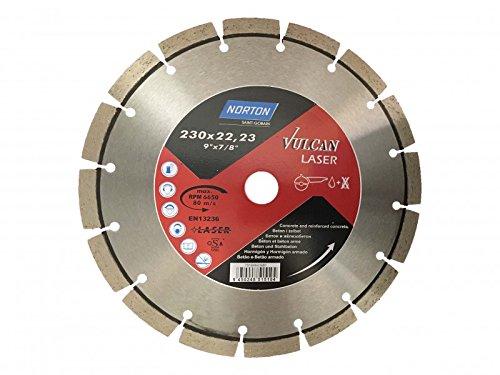 Preisvergleich Produktbild 1 Stück Diamantscheibe NORTON 230 x 22, 23 mm Vulcan Laser