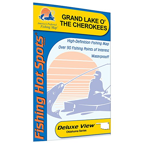 Grand Lake O The Cherokees Fishing Map, Lake Fishing Map