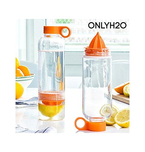 Appetitissime Sensations Juicer Botella Infusora de Cítricos con Exprimidor, Naranja y...