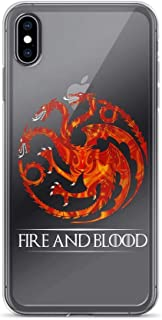 iPhone 7 Plus/8 Plus Pure Clear Case Cases Cover Fire and Blood Song Thrones Game Gift