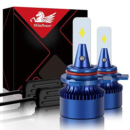 WinPower - HIR2 9012 Led Faro Lampadina Kit di sostituzione - 6000K Xeno bianca Super luminoso Lampada 12V Auto/moto Kit di aggiornamento Fendinebbia, 2 pezzi