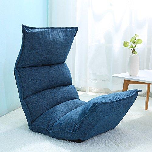 Chaises longues-Lazy Sofa Pliable Tissu Art Individuel Canapé Chaise Salon Chambre Balcon Bureau -Applicable à l'intérieur et à l'extérieur (Couleur : Bleu)
