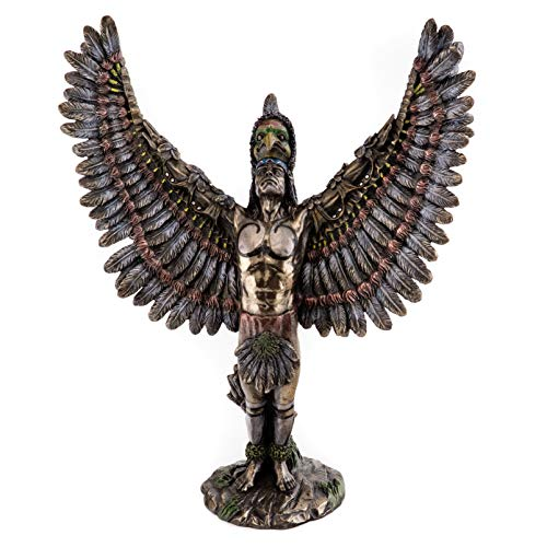 Top Collection Native American Warrior Statue-Cherokee Indian Sculpture in Cold Cast Bronze- 13.25-Inch Figurine