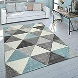 alfombra turquesa y gris