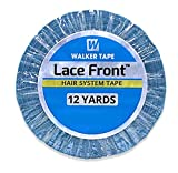 Lace Front Support Double Sided Lace Front Tape - Long Bonding Hold for Wigs and Hair Extensions - Good Strong Flexible Grip - Safe and Easy to Use - 3/4' x 12 yards (WKR-LF-M2)