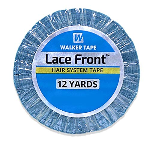 """Lace Front Support Double Sided Lace Front Tape - Long Bonding Hold for Wigs and Hair Extensions - Good Strong Flexible Grip - Safe and Easy to Use - 3/4"""" x 12 yards (WKR-LF-M2)"""
