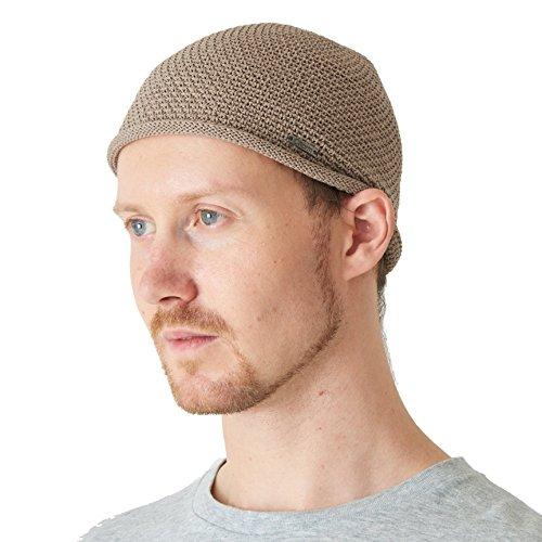 Casualbox Hommes Crâne Chapeau Bonnet Tricoter Chapeau Japonais Beige